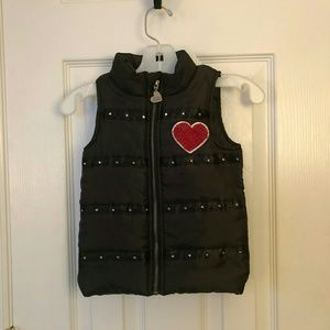 Girls Betsey Johnson Black Vest With Heart